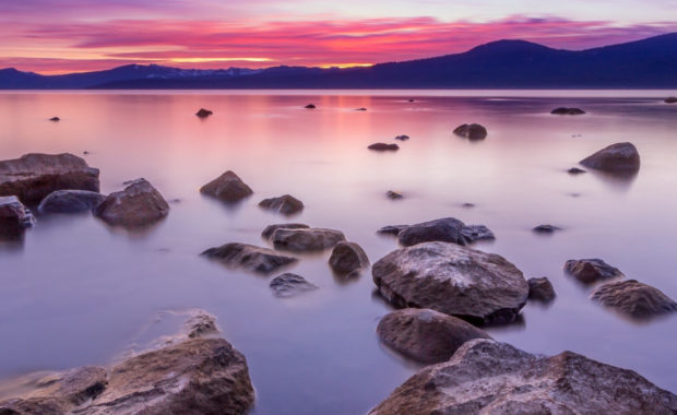 Lake Tahoe At Sunset